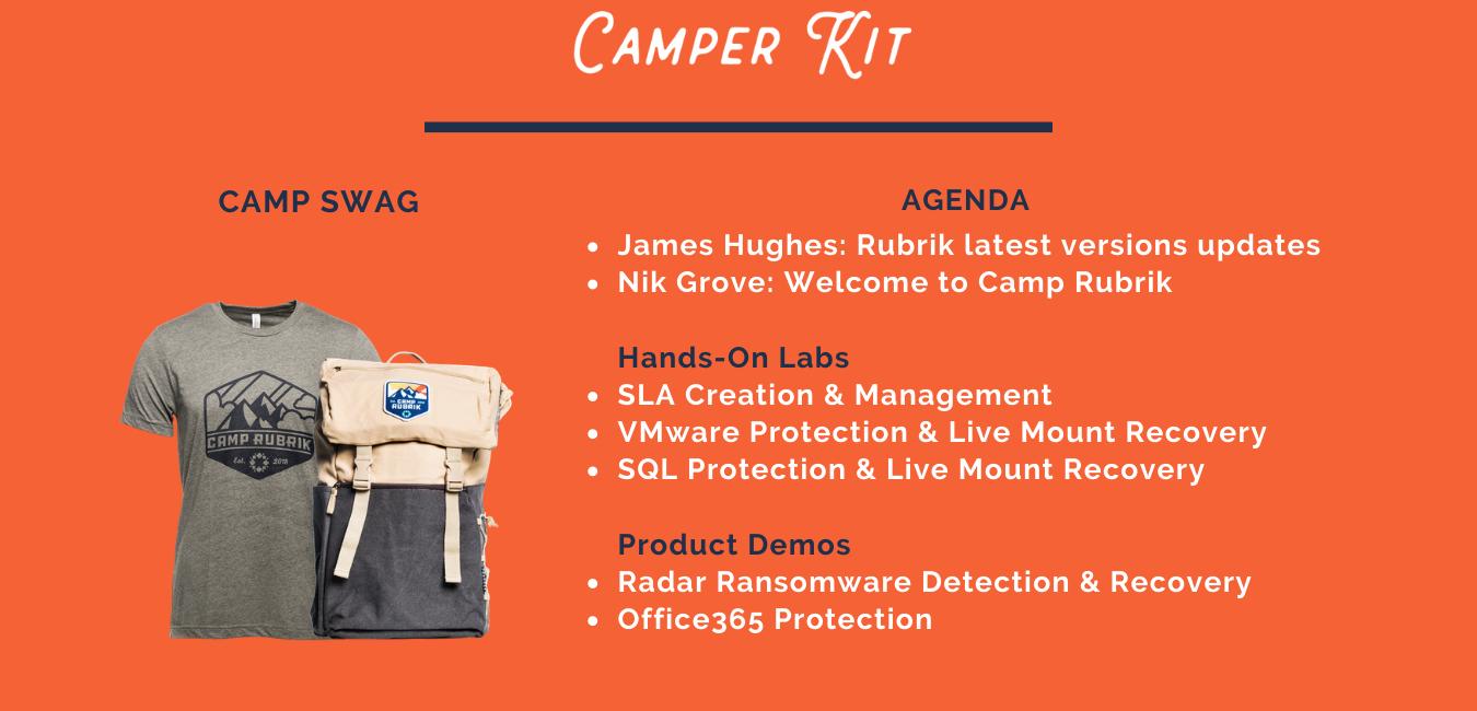 Camp Rubrik ITHQ agenda